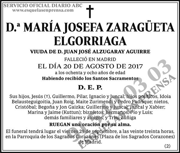 María Josefa Zaragüeta Elgorriaga